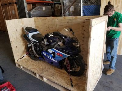 custom motorcycle crating