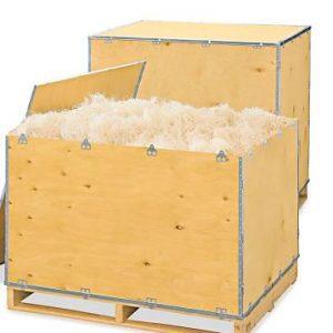 wooden storage vault crate